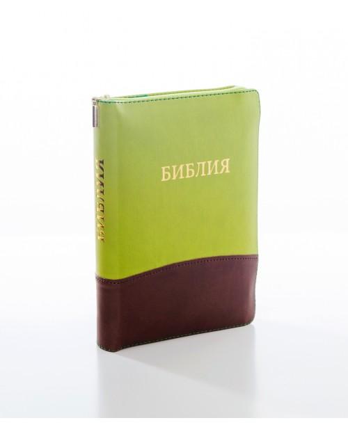 Библия 045 (Индексы, замок, 2 цв.) синод. перевод