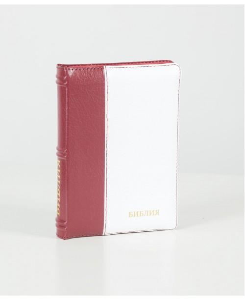Библия 047 (Индексы, замок, кожа, 2 цв.) синод. перевод