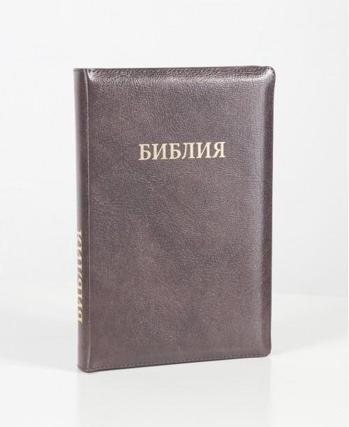 Библия 077 (Индексы, замок, кожа, золотой срез) синод. перевод